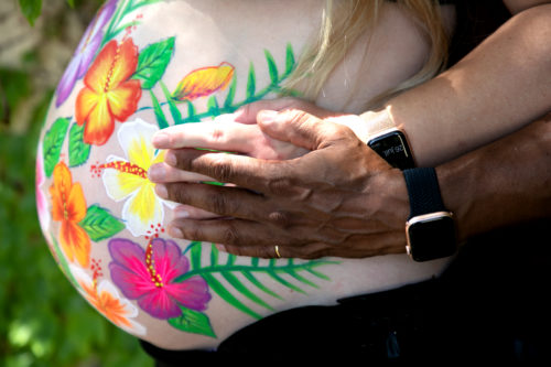 #bellypainting